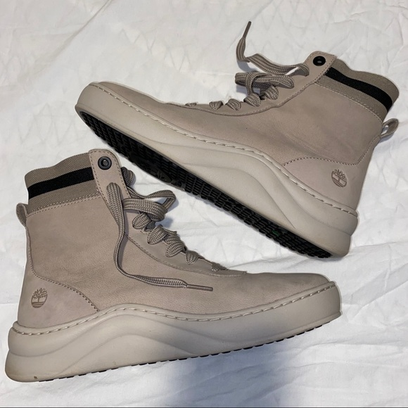 Timberland Shoes - TIMBERLAND - BEIGE LACE UP BOOTS SNEAKERS SIZE 9